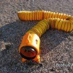 Blæser til udluftning m. 7 meter slange